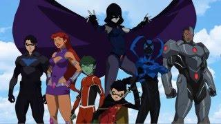 Descargar La liga de la justicia jóvenes titanes unión de mega