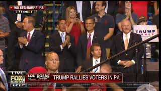 "TRUMP CROWD Starts Chanting, ""Sleepin' Bob! Sleepin' Bob!"" at Sen. Bob Casey at Penn Rally"