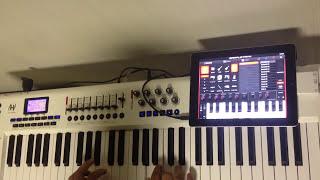M-Audio Axiom Pro 61 Ligado ao iPad 2