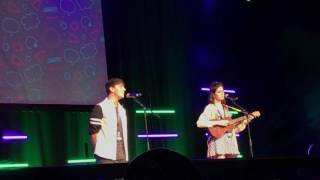 thomas sanders and dodie clark- dear happy (live at playlist)