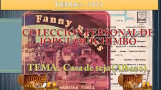 """FANNY ROJAS - CASA DE TEJA  (Albazo) Lp. 1970 """"CANTA A NUESTRA TIERRA"""""""