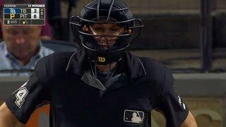 TB@PIT: MLB umpire Tumpane saves a woman's life