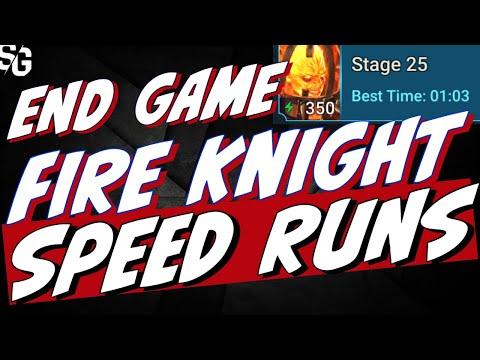 Very end game Fire Knight SPEED runs! The gear requirement is insane. 1 min flat speed runs. Raid