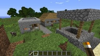 Minecraft NPC village seed 1.6.1 - 1.6.4, one blacksmith and one house, smallest village seed ever!