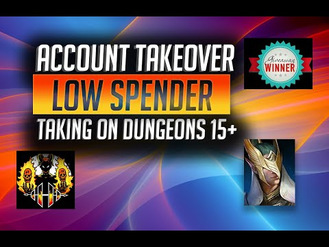 RAID: Shadow Legends | ACCOUNT TAKEOVER | LOW SPENDER | WORST GREAT HALL EVER!!  DUNGEONS 15+