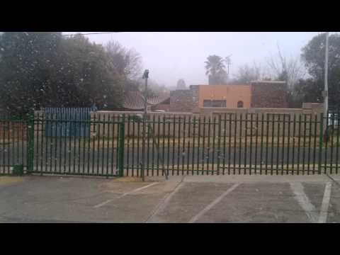 Snow in Johannesburg!