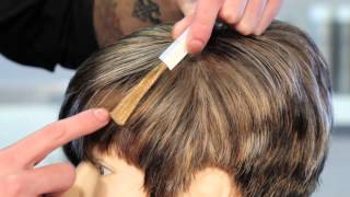 How to Cover Gray With Highlights of Light Brown Hair : Hair Highlights
