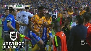 Patadas, puñetazos y empujones entre jugadores de Tigres y América