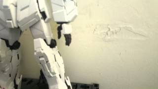 Gundam unicorn pg stop motion no sound