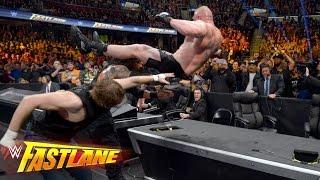 Reigns vs. Ambrose vs. Lesnar - Winner faces Triple H at WrestleMania: WWE Fastlane 2016