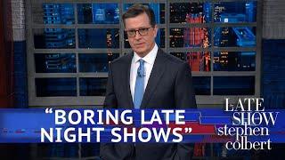 Trump Denounces 'Very Boring Late Night Shows'