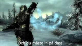 The Elder Scrolls V SKYRIM - ''Trailer Song'' w/ SWEDISH LYRICS! :D