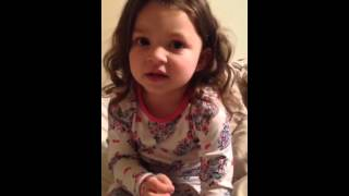 Don't interrupt my baby girl while she's singing her ABC's! Too funny!