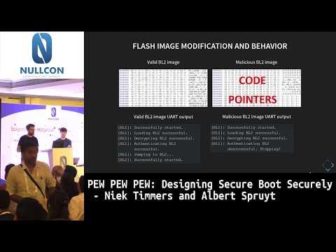 PEW PEW PEW: Designing Secure Boot Securely | Niek Timmers & Albert Spruyt