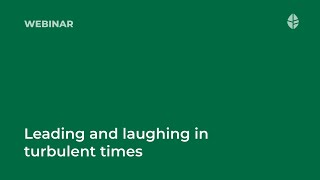 Leading and laughing in turbulent times Logo