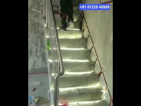 Awesome LED Light stair Steps House Interior Decor +91 81225 4589