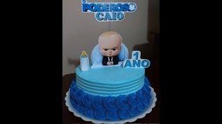 Decoração Simples Com Bico 32 #bolosdecorados #MRBolosTortasCupcakes #bolo