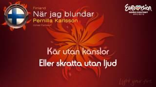 """Pernilla Karlsson - """"När Jag Blundar"""" (Finland)"""