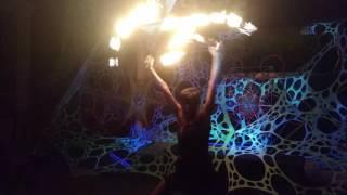When flipknot/kerosene club meets fire show..