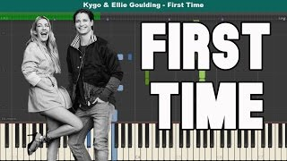 First Time Piano Tutorial - Free Sheet Music (Kygo & Ellie Goulding)