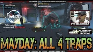 """Extinction: Mayday """"All 4 Traps"""" Telsa - Pipe Bombs - Sticky Flares - Hypno Traps"""