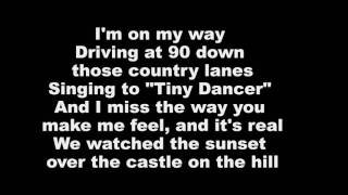 Ed Sheeran - Castle On The Hill (Lyrics On Screen)