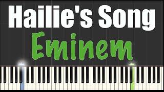 Hailies Song - Eminem - Piano Tutorial