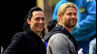 雷神3索爾洛基片場花絮Thor and Loki on set of Thor: Ragnarok