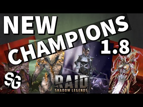 [RAID SHADOW LEGENDS] NEW CHAMPIONS IN 1.8