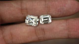 Raven Fine Jewelers - Forever One Moissanite Radiant Cut & Emerald Cut