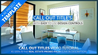 Call Out Title After Effects Tutorial | Real Estate Pack
