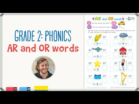 Grade 2: Phonics - AR and OR words | Kids Academy