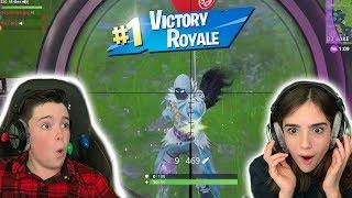 SNIPER ONLY CHALLENGE AND I WON!! - Fortnite Battle Royale