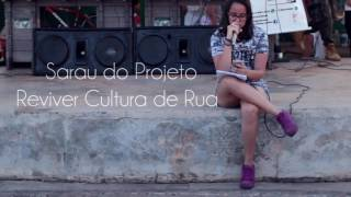 Juliana Perez no Sarau do Projeto Reviver Cultura de Rua