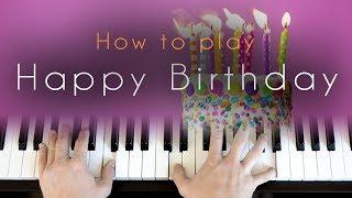 Happy Birthday - piano tutorial