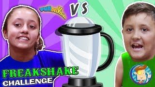 BROTHER vs SISTER FREAKSHAKE CHALLENGE! Grocery Store Shopping Battle! Best Tasting FUNnel Visi