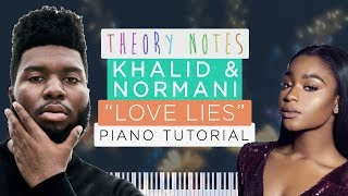 How to Play Khalid & Normani - Love Lies | Theory Notes Piano Tutorial