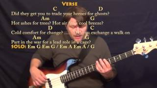 Wish You Were Here (Pink Floyd) Bass Guitar Cover Lesson with Chords/Lyrics