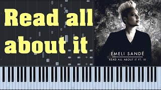 [EASY] How to Play: Read all about it - Emeli Sande - Synthesia Piano Cover
