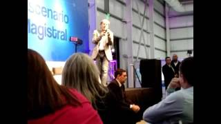 Bruce Dickinson en Campus Party Argentina,Bs As. (26/10/2016).