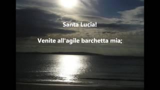 ITALIAN SONGS SANTA LUCIA ST. LUCY LUCIA DAY words lyrics  popular favorite  sing along songs
