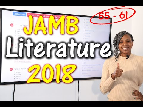 JAMB CBT Literature in English 2018 Past Questions 55 - 61