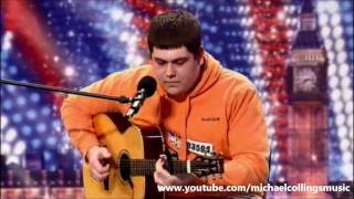 """Michael Collings sings """"Fast Car"""" by Tracy Chapman (First Audition) Britains Got Talent 2011 HD"""