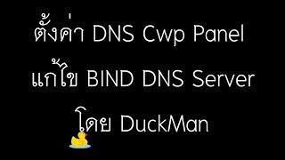 ตั้งค่า DNS Cwp Panel  แก้ไข BIND DNS Server โดย DuckMan