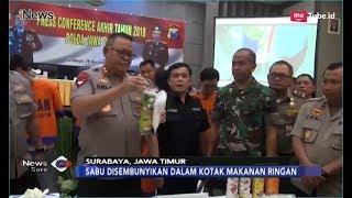 Polda Jatim Berhasil Gagalkan Penyelundupan 10 Kg Sabu di Kotak Makanan - iNews Sore 29/12