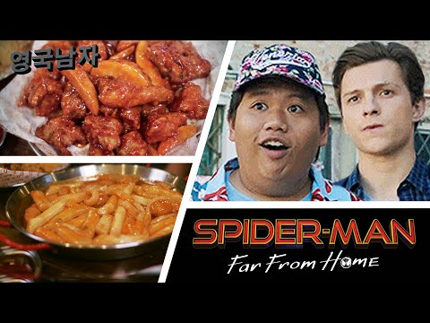 Spider-Man's Best-Friend Ned tries the SPICIEST Korean Chick…