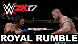Simulación WWE 2K17 Royal Rumble 2017