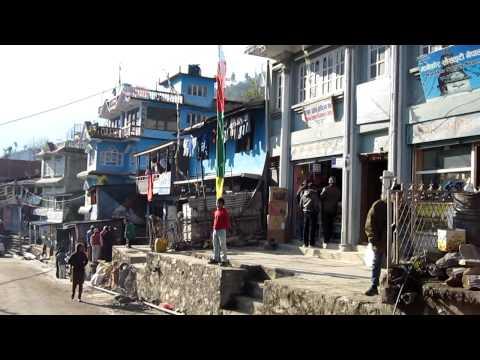 A walk through Dhunche Bazaar.