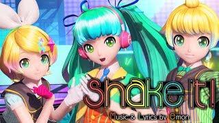 [60fps Full] shake it! シェイクイット! - Hatsune Miku Rin Len 初音ミク 鏡音リン レン DIVA English Romaji PDA FT