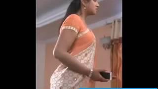 Manasu mamtha serial actress ashmita looking hot and sexy in saree width=